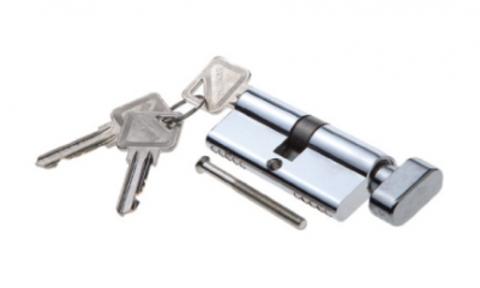Фурнитура - Цилиндр  Palidore ключ-барашек, цвет хром