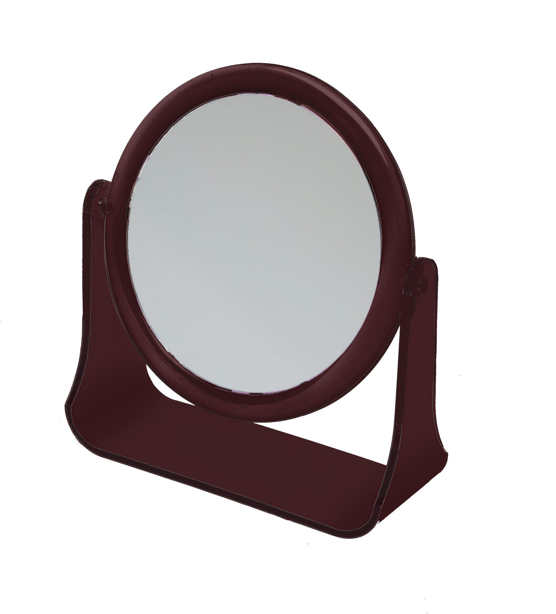 Зеркало Dewal Beauty настольное, в оправе янтарного цвета, на пластковой подставке, 178x160х10мм