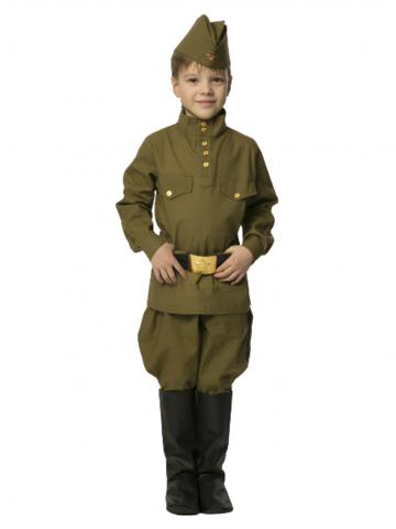 Военная форма Солдат с брюками-галифе детский