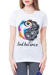 461134-17 футболка женская, белая