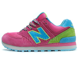 Кроссовки Женские New Balance 574 Pink Green Blue