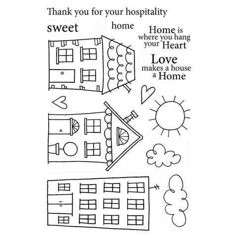 Набор силиконовых штампов -Home Sweet Home