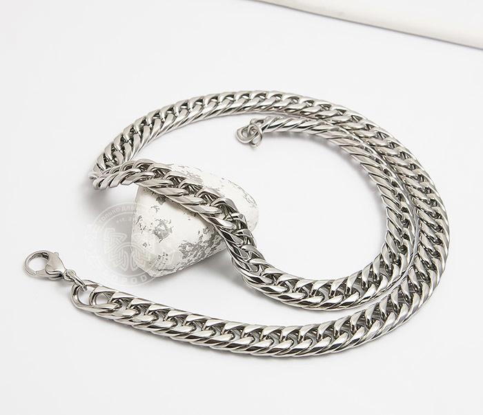 PM243 Красивая мужская цепь на шею из ювелирной стали (61 см)