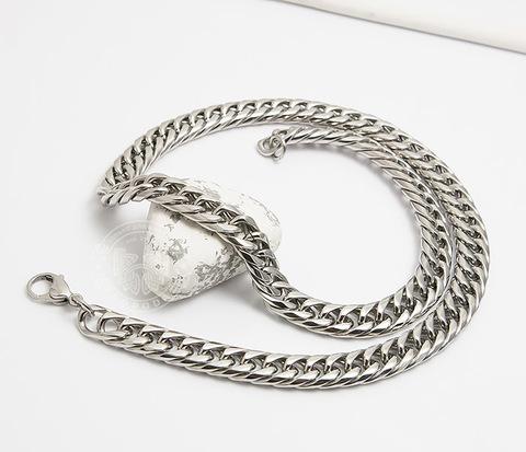 Красивая мужская цепь на шею из ювелирной стали (61 см)