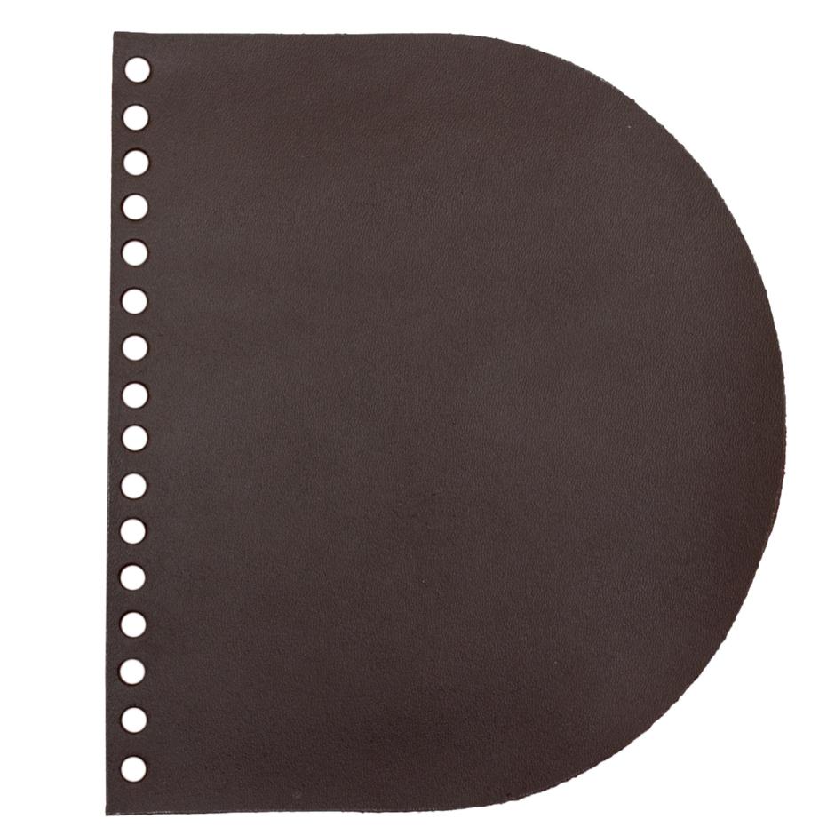 Кожаная фурнитура Клапан для сумочки кожаный темно-коричневый 2,5 мм IMG_9321.jpg