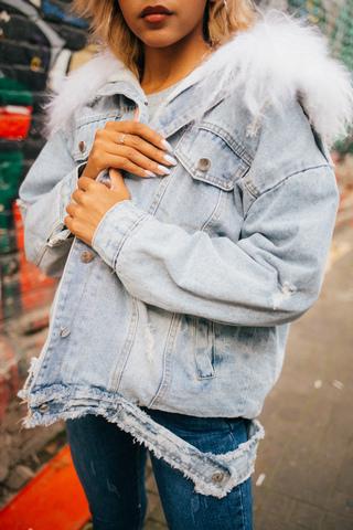 модная джинсовая куртка купить