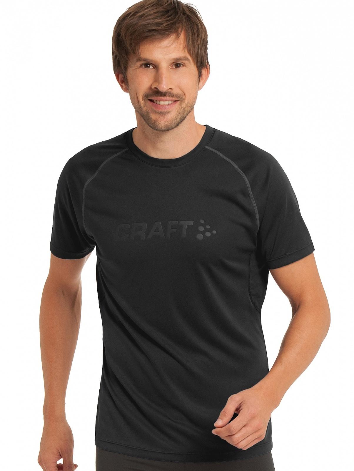 Мужская спортивная футболка для бега Craft Prime Run (1902497-9999) черная фото