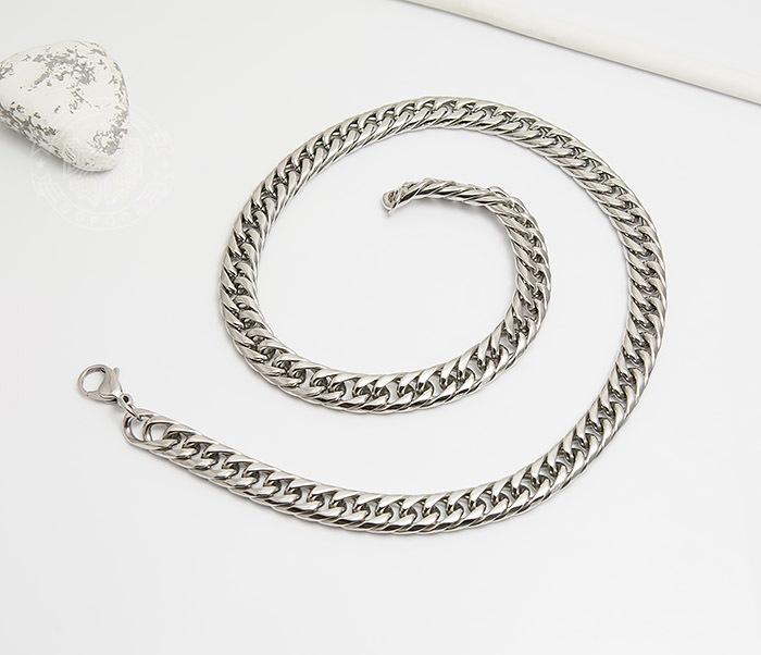 PM243 Красивая мужская цепь на шею из ювелирной стали (61 см) фото 02
