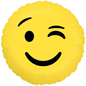 Шар Круг Смайл Эмоции Подмигивающий 46 см