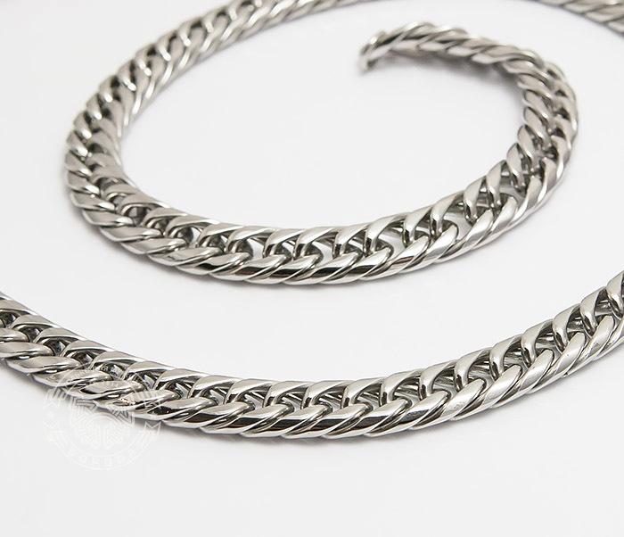 PM243 Красивая мужская цепь на шею из ювелирной стали (61 см) фото 03