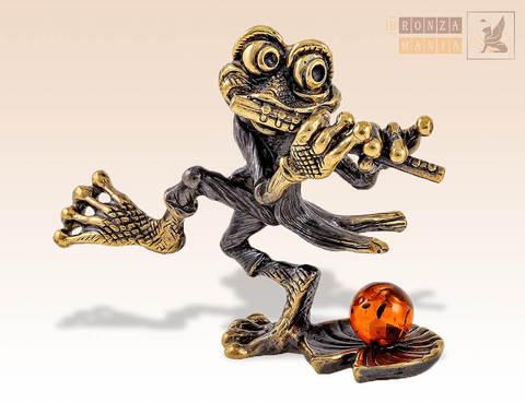 фигурка Лягушка с дудочкой