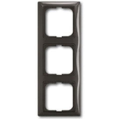 Рамка на 3 поста. Цвет шато-черный. ABB(АББ). Basic 55(Бейсик 55). 1725-0-1508