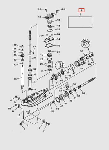 Редуктор в сборе  для лодочного мотора T40 Sea-PRO (23-1)