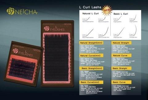 Ресницы NEICHA L-изгиб Curve MIX 6 линий