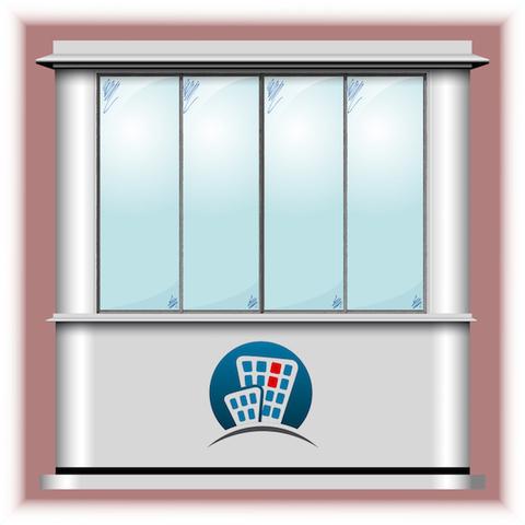 Остекление балкона в доме серии КОПЭ