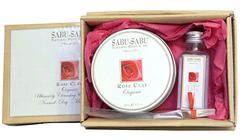 Подарочный набор: Глиняная маска для лица и тела с розой + Натуральная розовая вода, Sabu-Sabu