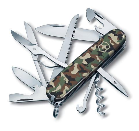 Качественный маленький брендовый фирменный швейцарский складной перочинный нож 91 мм красный 15 функций Victorinox  Huntsman VC- 1.3713.94