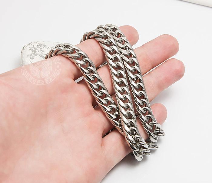 PM243 Красивая мужская цепь на шею из ювелирной стали (61 см) фото 05