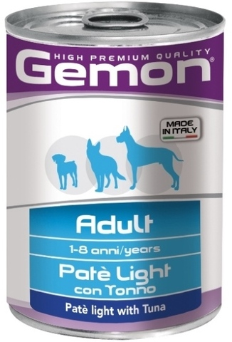 Gemon Dog Light Adult Pate with Tuna
