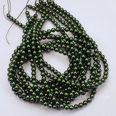 5810 Хрустальный жемчуг Сваровски Crystal Scarabaeus Green круглый 4 мм, 10 штук