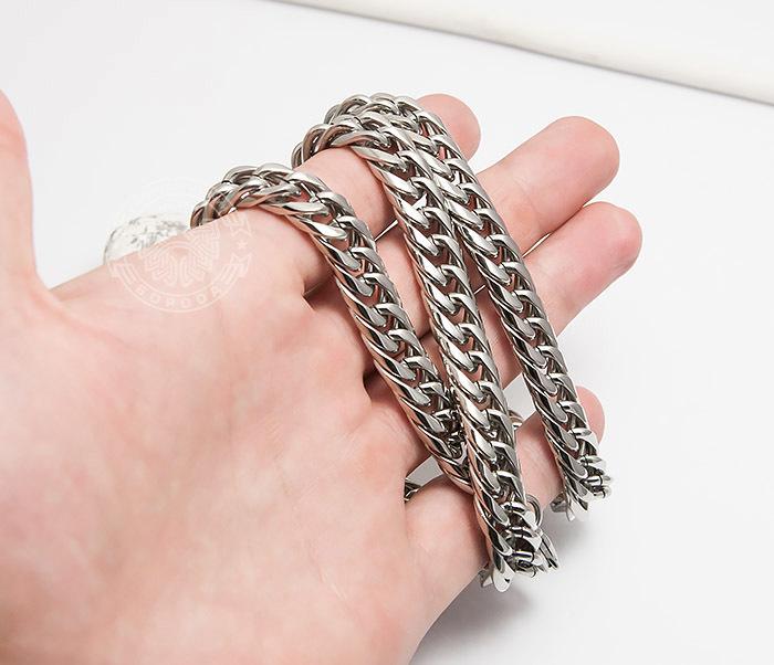 PM243 Красивая мужская цепь на шею из ювелирной стали (61 см) фото 06