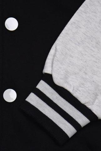 Бомбер черный с серым фото рукав