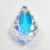 6090 Подвеска Сваровски Baroque Crystal AB (16х11 мм)
