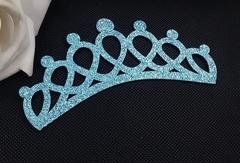 Заготовка Корона овальная перфорация голубая