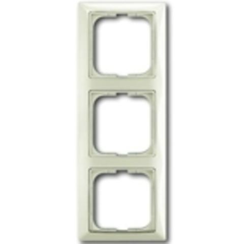 Рамка на 3 поста. Цвет шале-белый. ABB(АББ). Basic 55(Бейсик 55). 1725-0-1513
