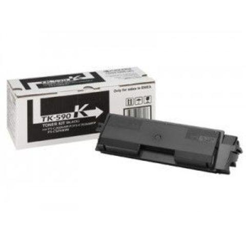 Kyocera TK-590K - черный тонер-картридж для принтеров Kyocera FS-C5250DN, FS-C2026MFP, FS-C2026MFP+, FS-C2126MFP, FS-C2126MFP+, FS-C2526MFP, FS-C2626MFP. Ресурс 7000 страниц.