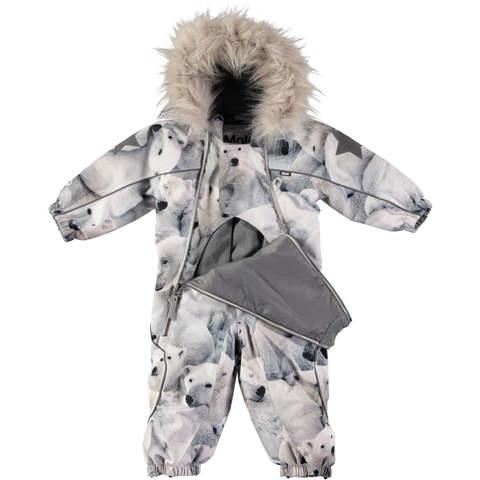 Комбинезон Molo Pyxis Fur Polar Bear зимний