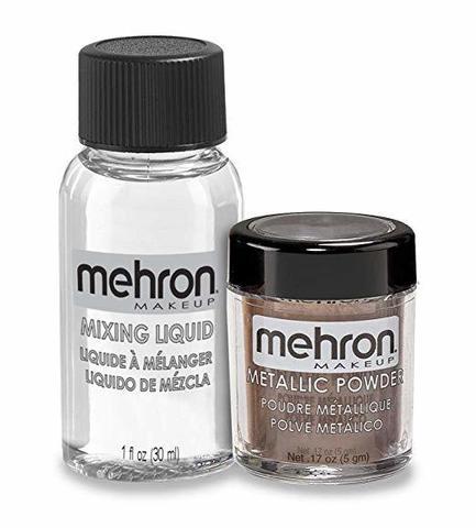 MEHRON Металлическая пудра-порошок Metallic Powder (5 г) с жидкостью для смешивания Mixing Liquid (30 г), Bronsze (Бронза)