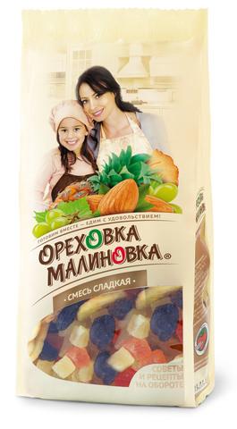 ОРЕХОВКА МАЛИНОВКА Смесь сладкая 190 г