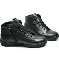 Мужские зимние ботинки на молнии Ikoc 1608-1 Sport Black.