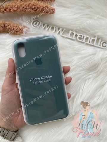Чехол iPhone XS Max Silicone Case Full /pine green/