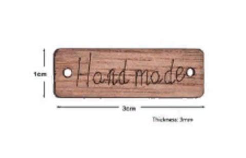 Пуговица Hand Made 9х29 мм деревянная неокрашенная