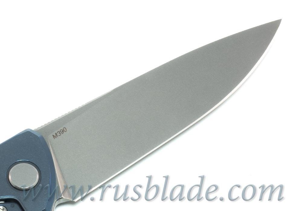 Shirogorov Flipper 95 M390 G10 Blue inlay