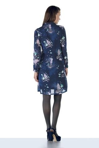 Платье 09053 синий
