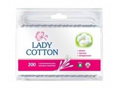 Lady Cotton ватные палочки 200шт, пакет