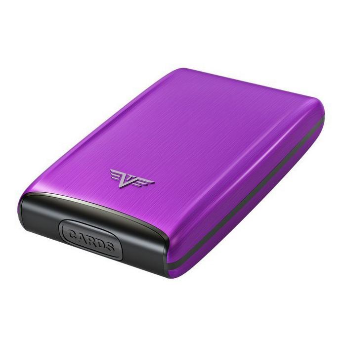 Визитница c защитой Tru Virtu RAZOR, цвет лиловый , 104*68*20 мм