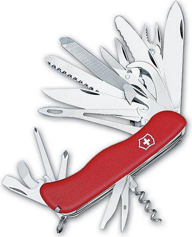 Нож Victorinox WorkChamp XL, 111 мм, 30 функций, красный