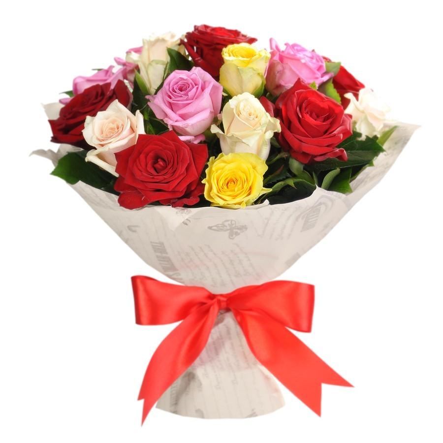 Цветы полтава, букет из 800 штук роз