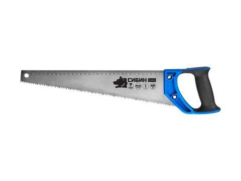 Ножовка по дереву (пила) 500 мм, шаг 4 TPI (6 мм), СИБИН