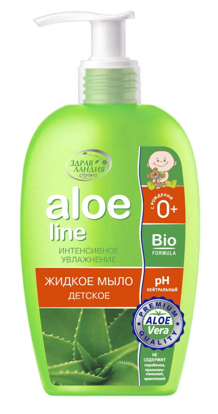 Aloe line детское жидкое мыло 250 мл.