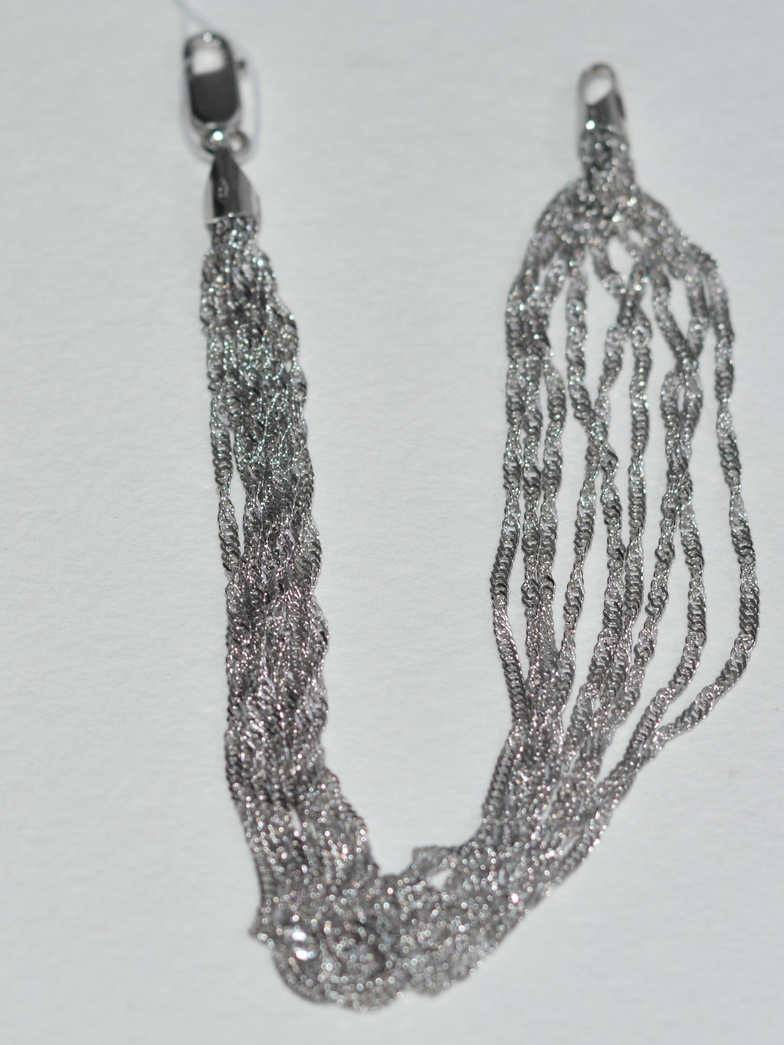 Сингапур 9-рядный (серебряный браслет )