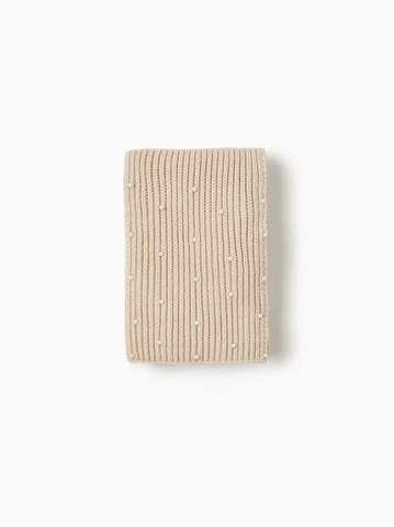 Шарф с бусинами (песочный)