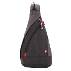 Рюкзак Swissgear с одним плечевым ремнем, черный/серый, 25x15x45 см, 7 л
