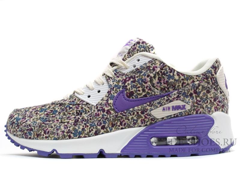 12d1f5854636 Купить Кроссовки женские Nike Air Max 90 Dark Violet Flower с доставкой по  Москве и России. Скидки до 70%   Заказать в Интернет-магазине The-shoes.ru