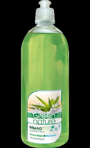 Floralis Green Nature Мыло для рук и тела 2в1 Алоэ Вера & Молоко  1000г