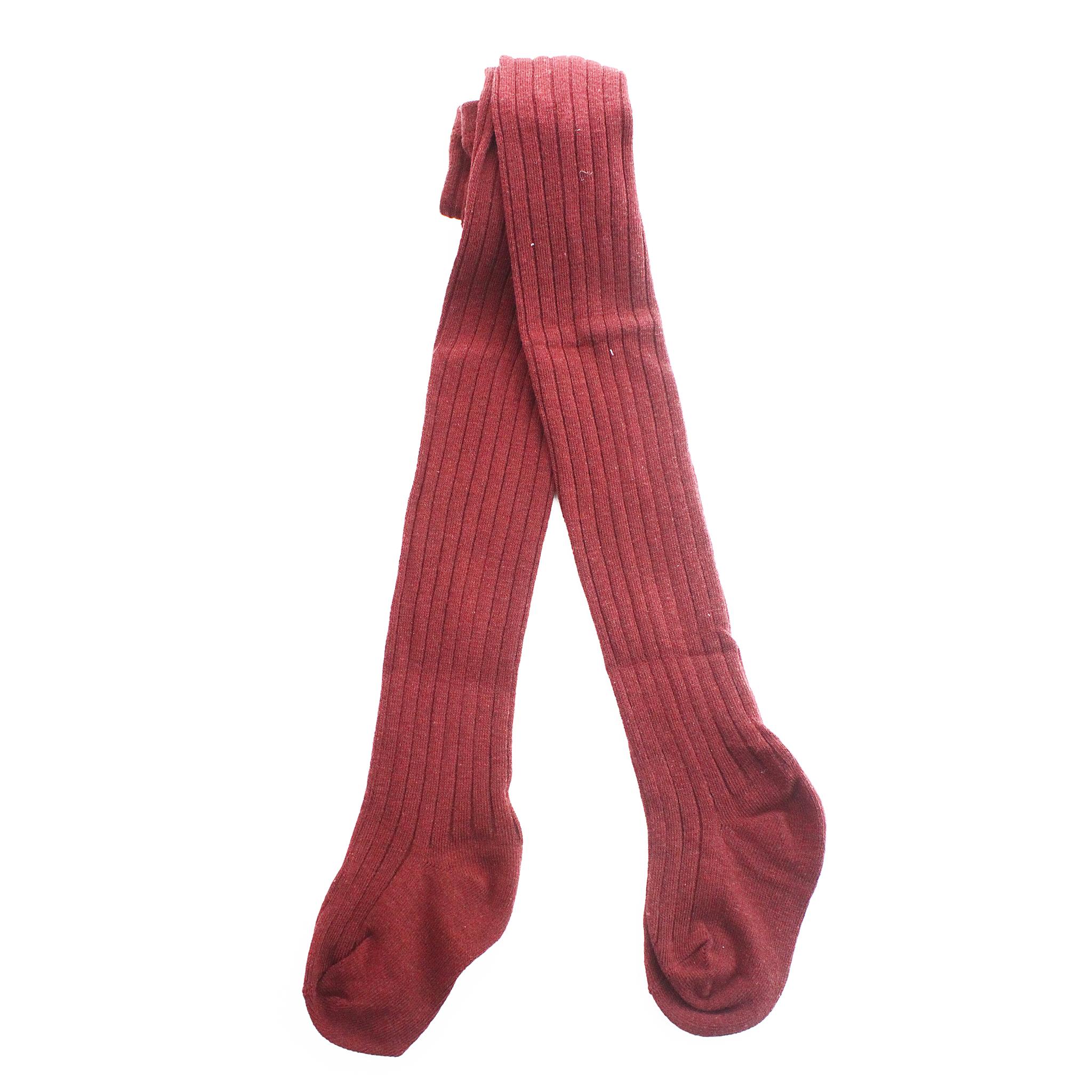 Колготки Рельефные Бордовые Рост 95 см - 105 см